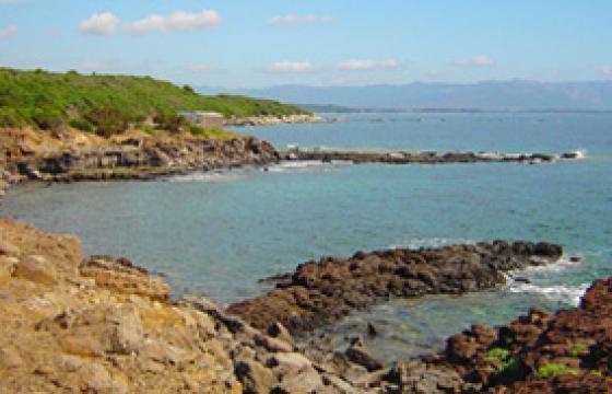 L'insenatura di Punta su Mastixi