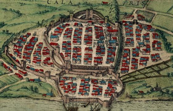 Cagliari e le sue mura in una stampa del 1580