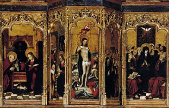Chiesa di San Giovanni: predella del retablo di Villamar