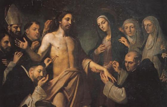 Cristo Risorto e Santi Domenicani