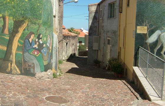Villanova Monteleone, Murales