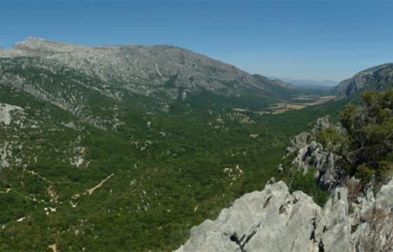 Il caratteristico paesaggio del Supramonte di Oliena