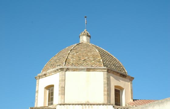 Lunamatrona, cupola della chiesa di San Giovanni Battista