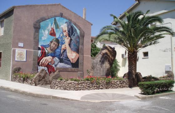 Dualchi, murale nel centro storico