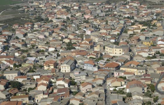 Marrubiu, visione dall'alto del paese