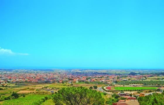 Capoterra, panorama dal quartiere di Santa Rosa