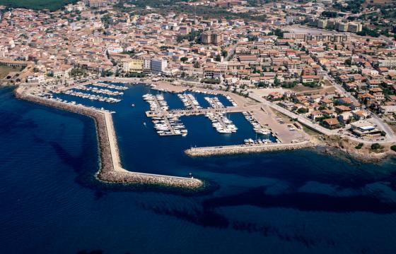 Veduta aerea della marina di Portoscuso