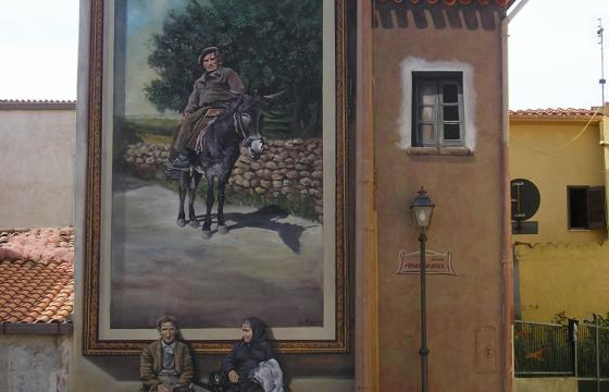 Sennariolo, murale in piazza Rimembranza