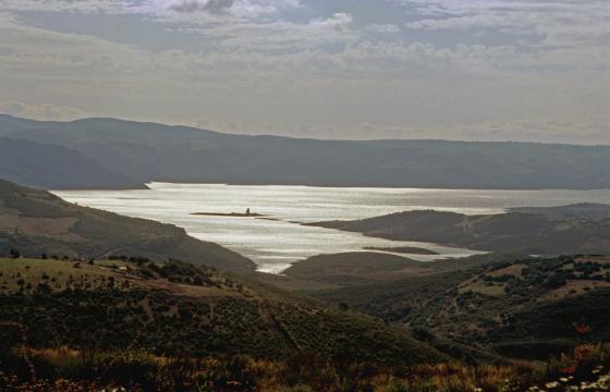 Panorama sul lago Mulargia