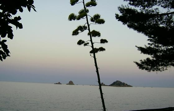 Santa Maria Navarrese, tramonto sull'Isolotto dell'Ogliastra