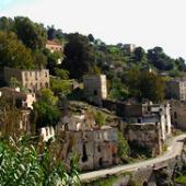 Panoramica delle rovine di Gairo vecchia