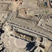 Veduta aerea degli scavi