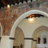 Galtellì, chiesa di San Pietro: particolare degli affreschi