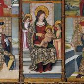 Oliena, chiesa di Sant'Ignazio di Loyola: Retablo di San Cristoforo
