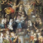 Chiesa della Natività di Maria: Baccio Gorini, Madonna e Sante