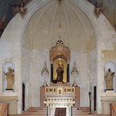 Presbiterio del santuario della Madonna di Bonaria