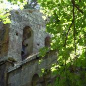 Santu Lussurgiu, Scorcio della chiesa di San Leonardo