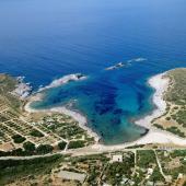 Veduta aerea di Cala Sapone