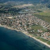 Capoterra, veduta aerea spiaggia di Frutti d'Oro