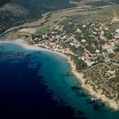 Maladroxia, veduta aerea della spiaggia