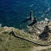 Isola di San Pietro, i faraglioni delle Colonne