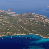 Budelli, veduta dell'isola