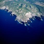 Isola di San Pietro, veduta aerea della Punta delle Oche