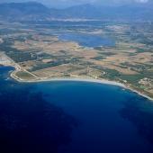 Villaputzu, veduta aerea spiaggia di Tramatzu