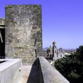 Sanluri, la parrocchiale vista dalle mura del castello