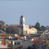 Samassi, veduta della parrocchiale della Beata Vergine di Monserrato