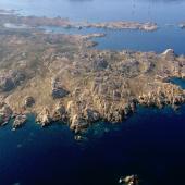 Veduta aerea dell'Isola di Razzoli