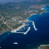 Olbia, veduta aerea della spiaggia di Portisco