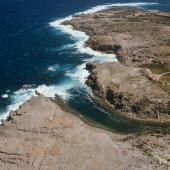 Veduta aerea di Cala Lunga nell'Isola di San Pietro