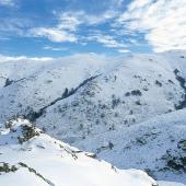 Fonni, la neve sul Gennargentu